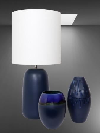 Set 1 Lampa cu 2 vaze HORY, ceramica, albastru, 35/23.5/30 cm [2]
