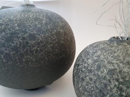 Set 1 Lampa cu Vaza PERCAL, ceramica, gri, 20/13 cm1