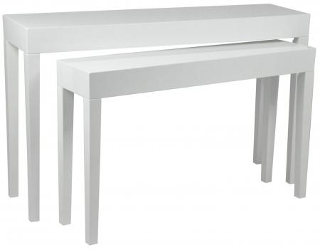 Set 2 console, alb, 130X34X80-110X27X68 cm, Mauro Ferretti0
