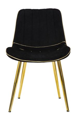 Set 2 fotolii PARIS negru/auriu (cm) 51X59X794