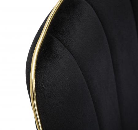 Set 2 fotolii PARIS negru/auriu (cm) 51X59X797