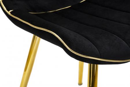 Set 2 fotolii PARIS negru/auriu (cm) 51X59X796