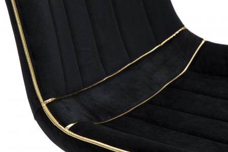 Set 2 fotolii PARIS negru/auriu (cm) 51X59X795