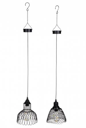 Set 2 lampi solare cu Led Mesh, metal, negru, 15x14.5 cm1