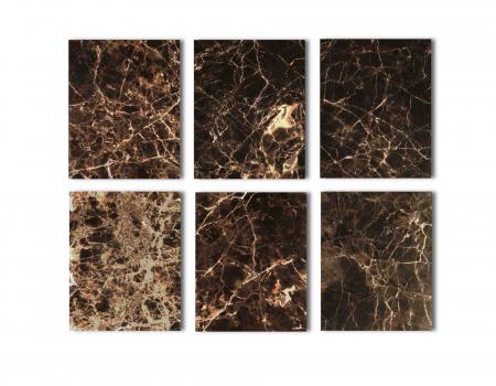 Set 2 masute Dalton, Marmura/Fier, Negru/Maro, 45/34x60/45x60/45 cm [8]