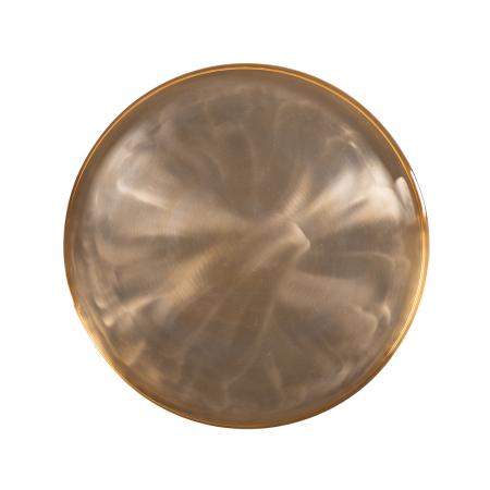 Set 2 masute Dustin, Aluminiu, Auriu/Negru, 38/46x78/66x78/66 cm [2]