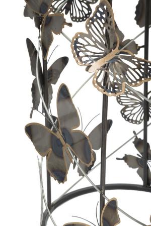 Set 2 masute Farfalle, fier/sticla, multicolor, 41,3X55-35X50,3 cm [5]
