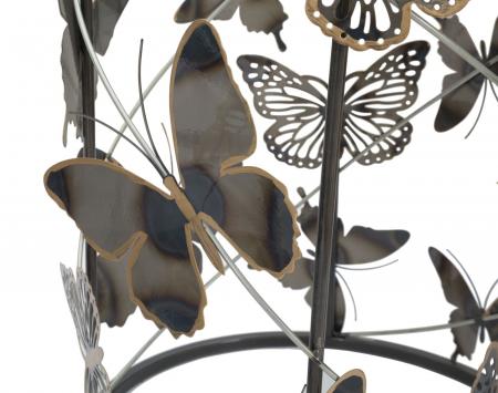 Set 2 masute Farfalle, fier/sticla, multicolor, 41,3X55-35X50,3 cm [4]