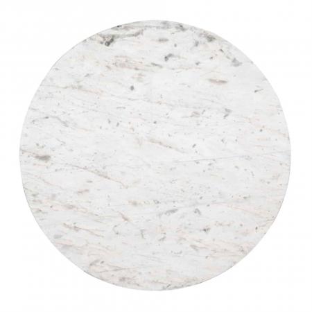 Set 2 masute Levanto, Marmura/Otel inoxidabil, Alb/Argintiu, 46/36x91.5/76x91.5/76 cm [9]