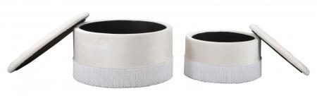 Set 2 pufuri cu spatiu de depozitare LINES (cm) Ø 71X41-55X331