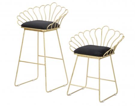 Set 2 scaune de bar GLAM FLOWER  (cm) 57X52X94-56X48X72,507