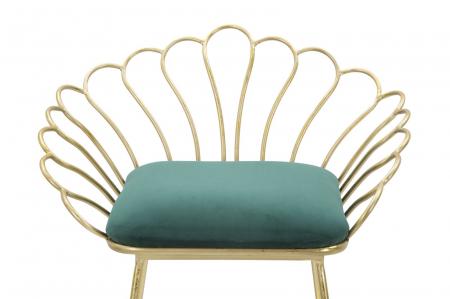 Set 2 scaune de bar GLAM FLOWER  (cm) 57X52X94-56X48X72,506