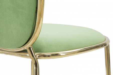 Set 2 scaune GLAM EMILY GREEN  (cm) 44X50X90 7