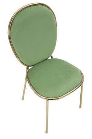 Set 2 scaune GLAM EMILY GREEN  (cm) 44X50X90 5