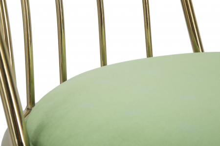 Set 2 scaune GLAM LODOVIC GREEN (cm) 45X50X80 6