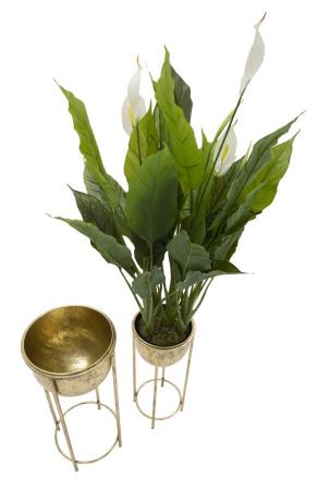 Set 2 suporturi de flori COPPIA (cm) Ø 27X62-21,5X522