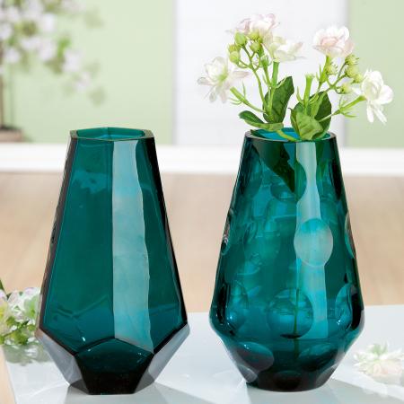 Set 2 vaze TINTA, sticla, 6x18 cm0