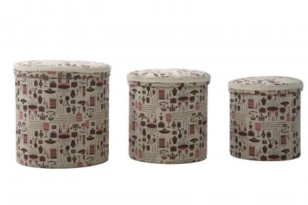 Set 3 cutii depozitare (cm) 44X44 - 38X38 - 34X340