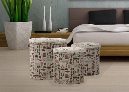Set 3 cutii depozitare (cm) 44X44 - 38X38 - 34X343