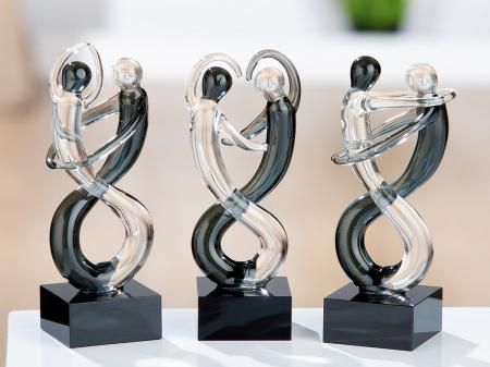 Set 3 figurine DANCER, sticla, 10.5x4x4 cm0