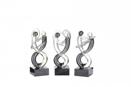 Set 3 figurine DANCER, sticla, 10.5x4x4 cm1