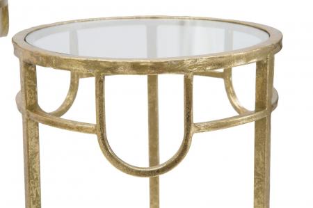 Set 3 masute GOLD  (cm) Ø 33X70-28X60-23X508