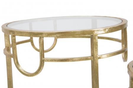 Set 3 masute GOLD  (cm) Ø 33X70-28X60-23X507
