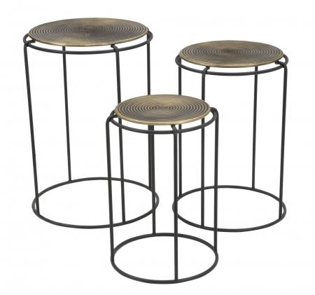 Set 3 masute metalice, 48X66.5 cm-42X59.5 cm-36X52.5 cm, Mauro Ferretti [5]