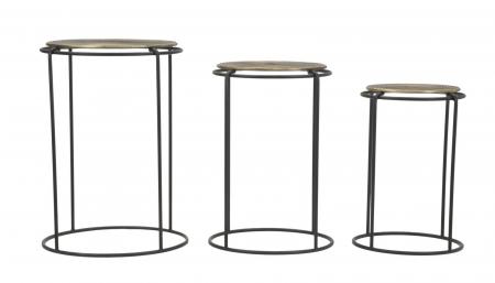 Set 3 masute metalice, 48X66.5 cm-42X59.5 cm-36X52.5 cm, Mauro Ferretti [1]