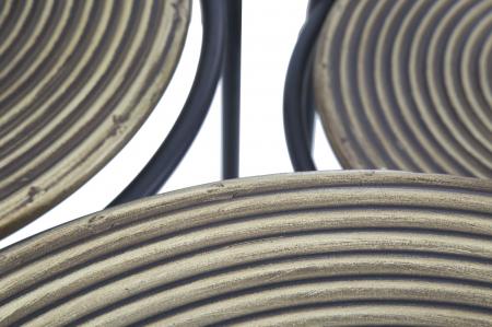 Set 3 masute metalice, 48X66.5 cm-42X59.5 cm-36X52.5 cm, Mauro Ferretti [6]