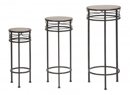 Set 3 suporturi pentru flori ESSENTIAL TRIS (cm) Ø 30X70-25X60-20X50  4