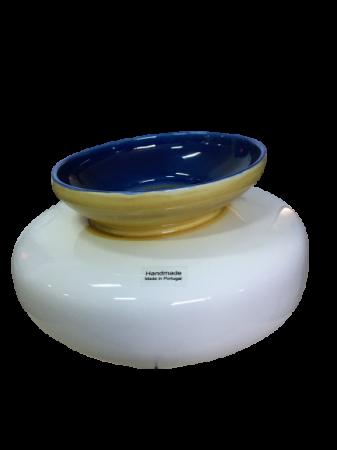 Set 3 vaze HERITAGE, ceramica, alb, 41/34/7.5 cm3