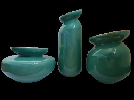 Set 3 vaze HERITAGE, ceramica, albastru, 41/34/7.5 cm2