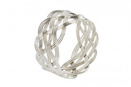 Set 4 inele servete de masa KATE, placate cu argint, 4.5 cm1
