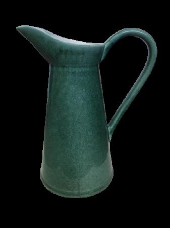 Set Carafa cu Vaza si Farfurie VAUX, ceramica, verde maslina, 32.5/33/5 cm8