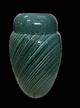 Set Carafa cu Vaza si Farfurie VAUX, ceramica, verde maslina, 32.5/33/5 cm6