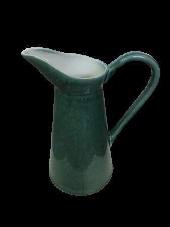 Set Carafa cu Vaza si Farfurie VAUX, ceramica, verde maslina, 32.5/33/5 cm9