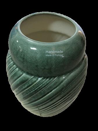 Set Carafa cu Vaza si Farfurie VAUX, ceramica, verde maslina, 32.5/33/5 cm7
