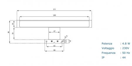 Set de baie cu 4 piese AGO, Melamina/Aluminiu/Abs/Sticla/Ceramica/Metal, Gri, 71x46.5x190 cm7