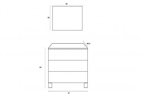 Set de baie cu 4 piese MALMO, Melamina/Aluminiu/Abs/Sticla/Ceramica/Metal, Alb, 81x46.5x190 cm [6]