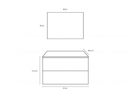 Set de baie cu 4 piese MALMO, Melamina/Aluminiu/Abs/Sticla/Ceramica/Metal, Gri, 81x46.5x190 cm6