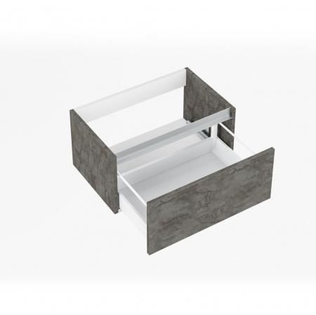 Set de baie cu 6 piese PERTH, Melamina/Aluminiu/Abs/Sticla/Ceramica/Metal, Gri, 140x46.5x190 cm1
