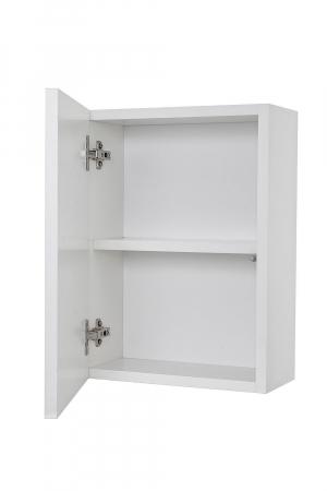 Set mobilier pentru baie 8 piese PERTH, Melamina/Aluminiu/Abs/Sticla/Ceramica/Metal, Alb/Maro deschis, 131x46.5x190 cm7