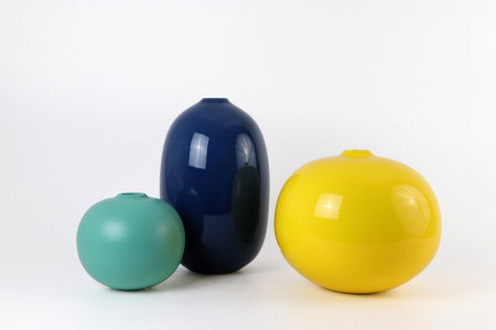 Set 3 vaze STIJL, ceramica, multicolor, 40/25/13 cm0