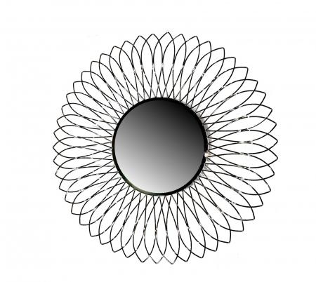 Set Vaza cu Oglinda TROPIC, metal/nichel, 46/76 cm2