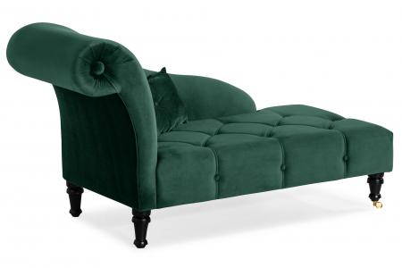 Sezlong living Diana, Verde inchis, 165x88x70 cm1