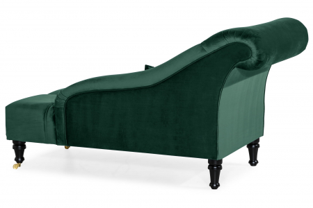 Sezlong living Diana, Verde inchis, 165x88x70 cm3