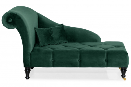 Sezlong living Diana, Verde inchis, 165x88x70 cm0