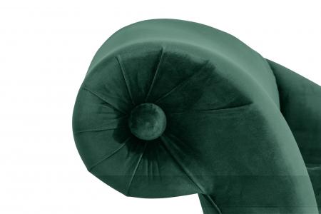 Sezlong living Diana, Verde inchis, 165x88x70 cm5