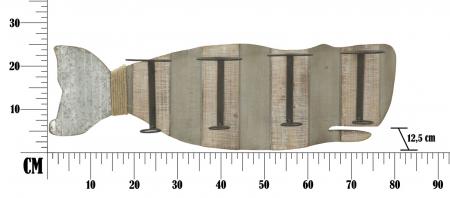 Suport de perete pentru sticle de vin BALENA, 80X12.5X25 cm, Mauro Ferretti7